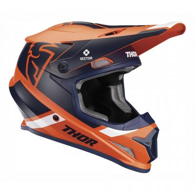 Casque cross Thor Sector Split Mips orange/navy