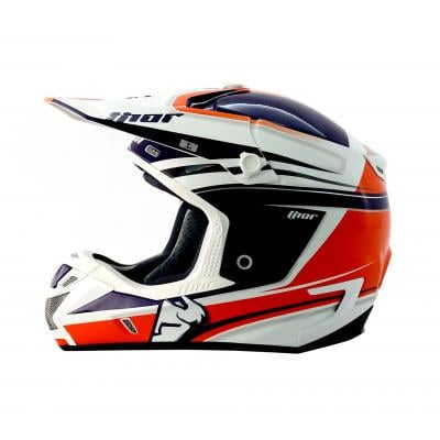 Casque Cross Thor Verge Flex Bleu/Orange