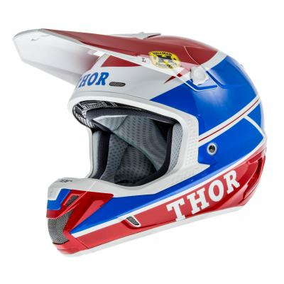 Casque Cross Thor Verge Pro Gp Bleu/Rouge