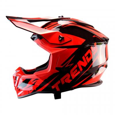 Casque cross Trendy T-903 noir / rouge