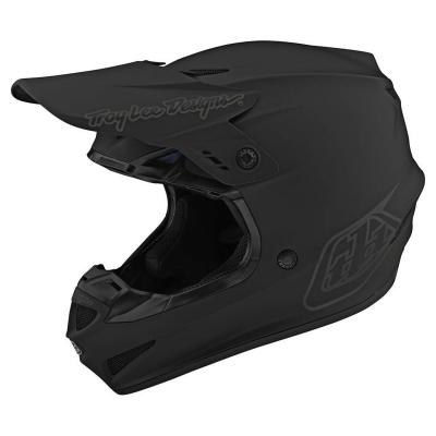 Casque cross Troy Lee Designs GP Polyacrylite Mono noir mat