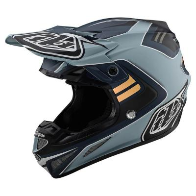 Casque cross Troy Lee Designs SE4 Composite Flash Mips gris/argent