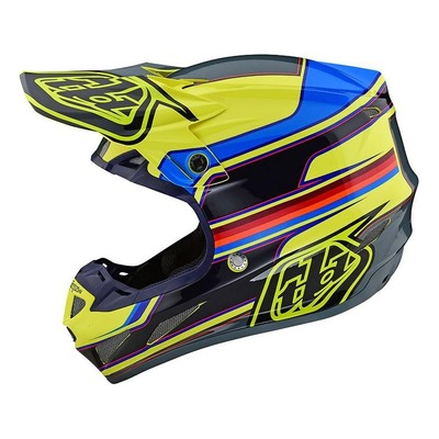 Casque cross Troy Lee Designs SE4 Composite Speed jaune/gris
