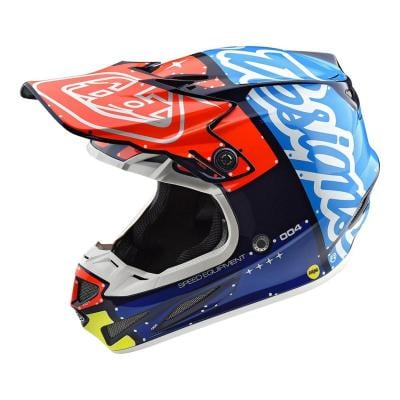 Casque cross Troy Lee Designs SE4 Composite Factory navy
