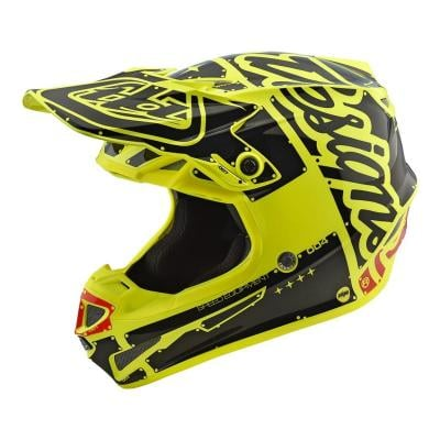 Casque cross Troy Lee Designs SE4 Polyacrylite Factory jaune
