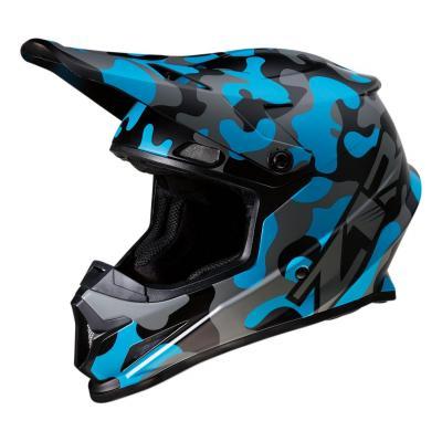 Casque cross Z1R Rise Camo-blue bleu/camouflage