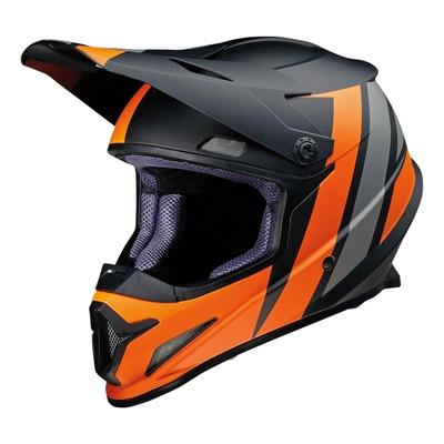 Casque cross Z1R Rise Evac noir/orange/gris mat
