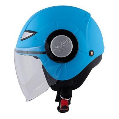 Casque enfant jet KJ05 Power bleu vif mat