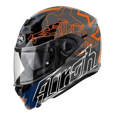 Casque intégral Airoh Storm Bionikle orange
