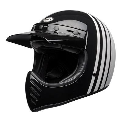 Casque intégral Bell Moto-3 Reverb blanc/noir brillant