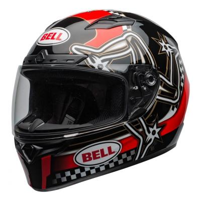 Casque intégral Bell Qualifier DLX Mips Isle of Man 2020 brillant rouge/noir