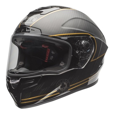 Casque intégral Bell Race Star DLX Ace Cafe noir/or mat/brillant