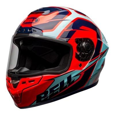 Casque intégral Bell Star DLX Mips Labyrinth rouge/bleu brillant