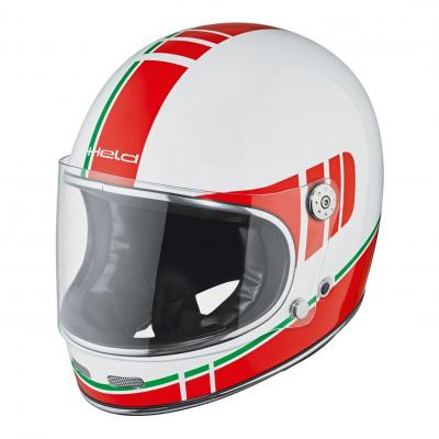Casque intégral Held Root blanc/rouge