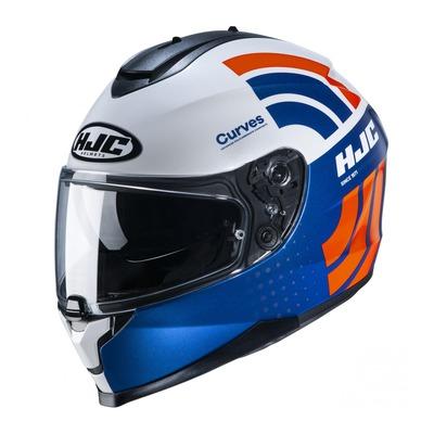 Casque intégral HJC C70 Curves MC27 bleu/orange/blanc
