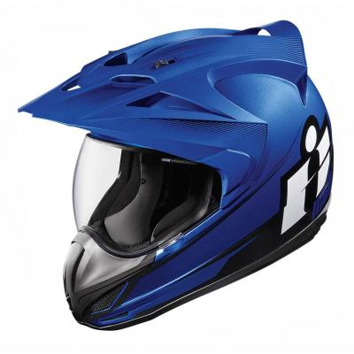 Casque intégral Icon Double Stack Variant bleu