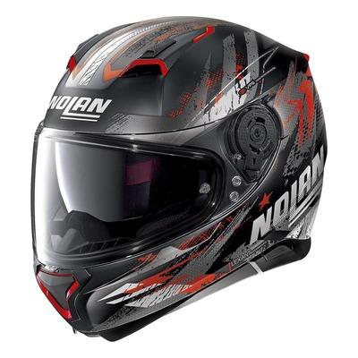 Casque intégral Nolan N87 Carnival N-Com Mat noir/rouge