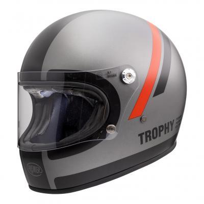 Casque intégral Premier Trophy DO17 BM gris/rouge/noir