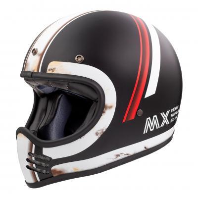Casque intégral Premier Trophy MX DO92 OS BM noir/blanc/rouge