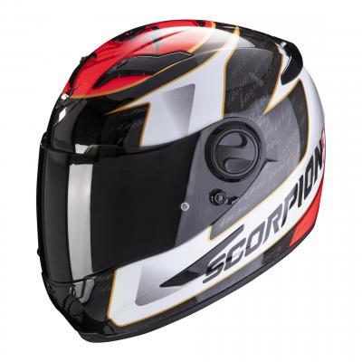 Casque intégral Scorpion Exo-490 Tour blanc/rouge