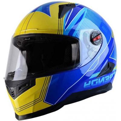 Casque intégral Trendy T-501 Stealth bleu / jaune