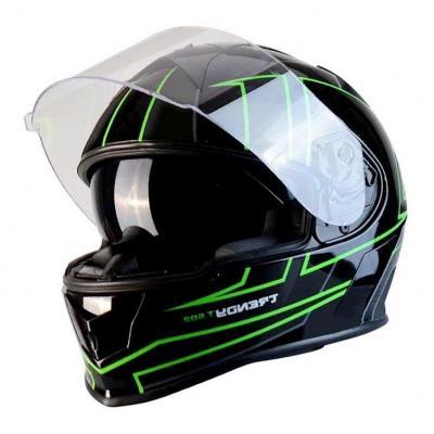 Casque intégral Trendy T-602 Spider noir / vert verni