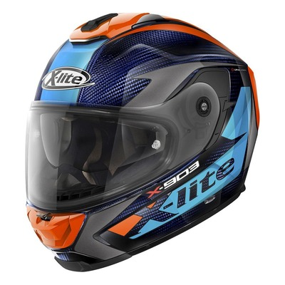 Casque intégral X-Lite X903 Ultra Carbon Nobiles N-Com bleu/orange/carbone