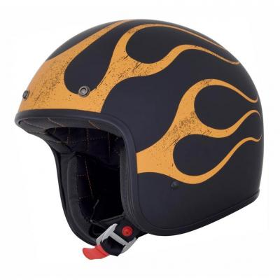 Casque jet AFX FX76 FLAME noir/orange mat