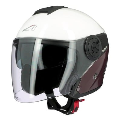 Casque jet Astone DJ10-2 Radian marron/blanc brillant