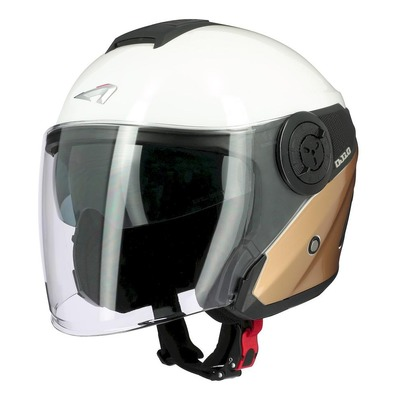 Casque jet Astone DJ10-2 Radian or/blanc brillant