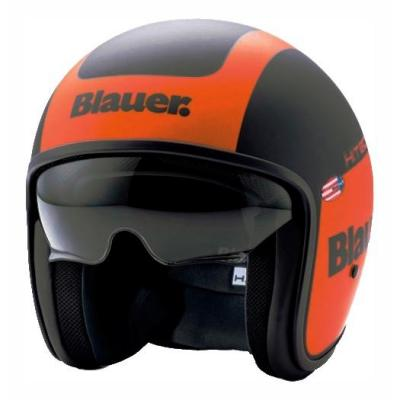 Casque jet Blauer Pilot 1.1 Graphic G orange/noir mat