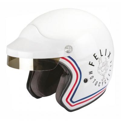 Casque jet Felix Motocyclette ST520 Signature blanc