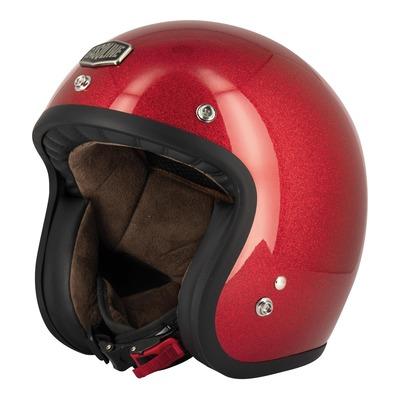 Casque jet Gasoline Café Racer S250 rouge pailleté brillant