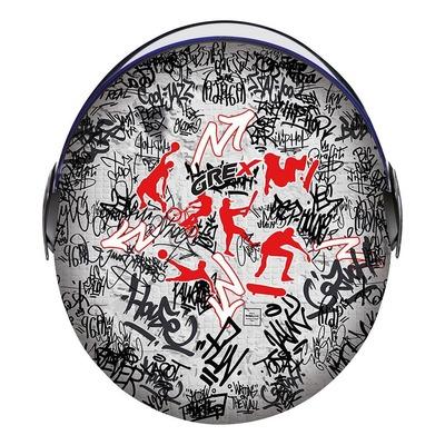 Casque jet Grex G1.1 Artwork Sport Graffiti noir/rouge