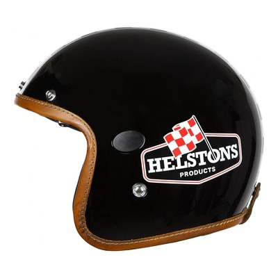 Casque jet Helstons Flag Carbone noir