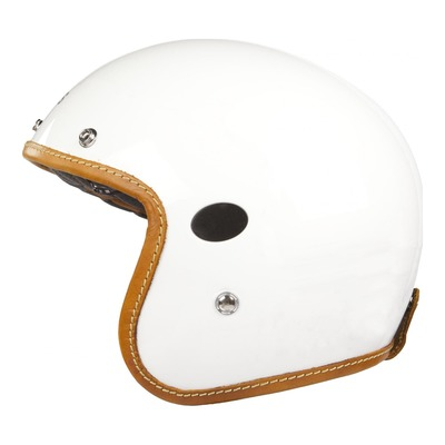 Casque jet Helstons Naked Carbone blanc