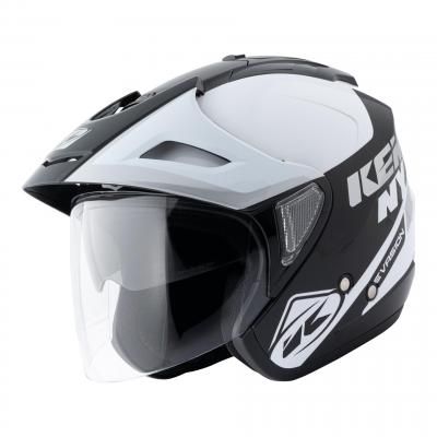 Casque jet Kenny Evasion Graphic blanc