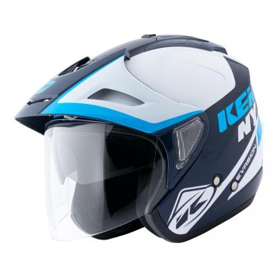 Casque jet Kenny Evasion Graphic navy/bleu/blanc