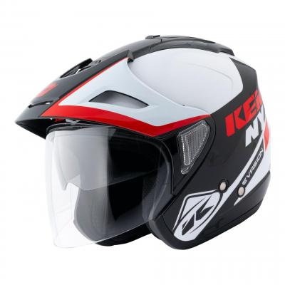 Casque jet Kenny Evasion Graphic rouge