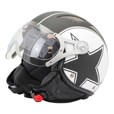 Casque Jet Lazio Star noir/blanc