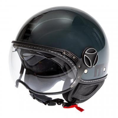 Casque jet Momo Design FGTR Evo noir brillant