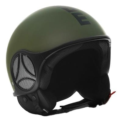 Casque jet Momo Design Minimomo vert militaire/noir mat