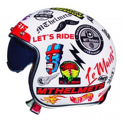 Casque jet MT Helmet Le Mans 2 SV Anarchy blanc