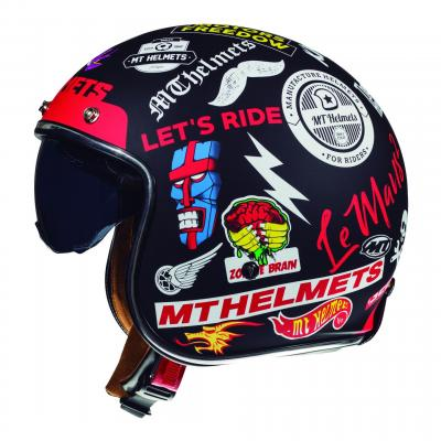 Casque jet MT Helmet Le Mans 2 SV Anarchy noir