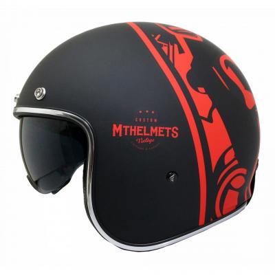 Casque jet MT Helmets Le Mans 2 SV Divenire noir / rouge
