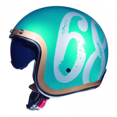 Casque jet MT Helmets Le Mans 2 SV Hipster vert brillant