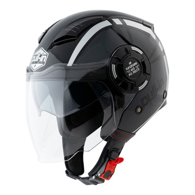 Casque jet Pull-in Graphic gris métallique