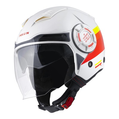 Casque jet Pull-in Open Face gary rouge/blanc/jaune brillant