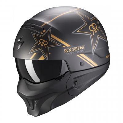 Casque jet Scorpion Exo-Combat Evo Rockstar or
