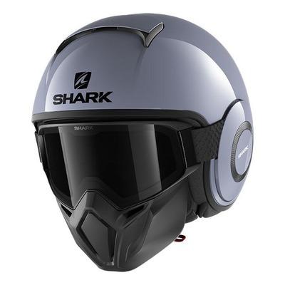 Casque jet Shark Street-Drak Blank gris S01